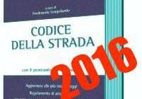codice strada 2016