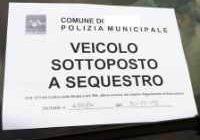 sequestro auto moto senza assicurazione